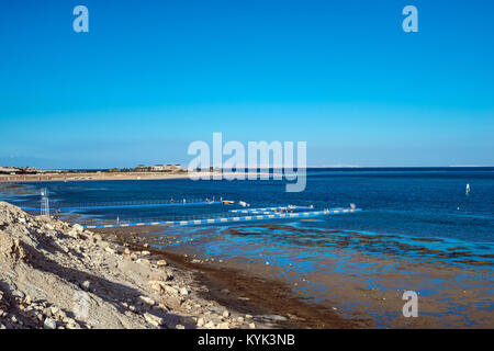 Pontoons in the Red Sea in Sharm El Sheikh - Stock Photo