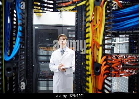 Man in data center - Stock Photo