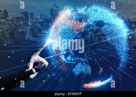 Global network concept. - Stock Photo