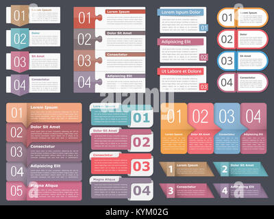 Set of infographic templates with numbers and text can be used as infographic templates with numbers and text business infographics elements set workflow process fbccfo Images
