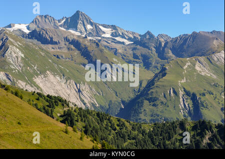 The Großglockner in the center of the national park Hohe Tauern - Stock Photo