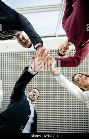 Teamwork Join Hands Support Together Concept. Team work. - Stock Photo