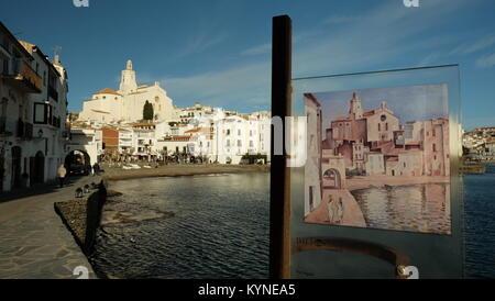 Port Alguer, Salvador Dali - Stock Photo
