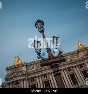 The Palais Garnier - an opera house known as National Academy of Music (Academie Nationale de Musique) in Paris, - Stock Photo