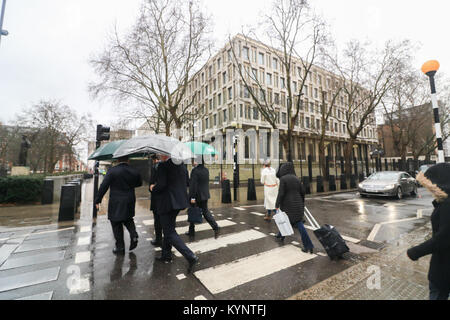 London, UK. 15th Jan, 2018. The London embassy of the United States prepares to close as it relocates to new premises - Stock Photo