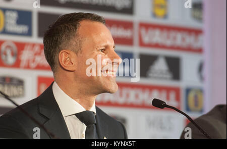 Cardiff, UK. 15th Jan, 2018. Ryan Giggs is revealed as the new Manager of the Wales National Football team at a - Stock Photo