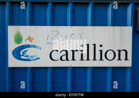 Wolverhampton, Britain, UK. 15th January, 2018. Carillion goes into voluntary liquidation after talks with the government - Stock Photo