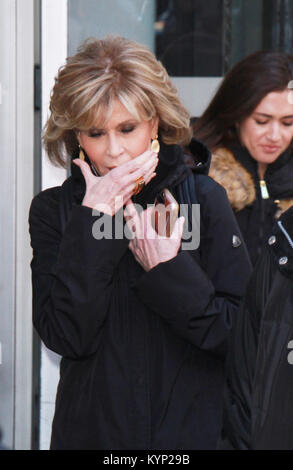 New York, NY, USA. 15th Jan, 2018. Jane Fonda at Build Series the new season of Grace And Frankie in New York City - Stock Photo