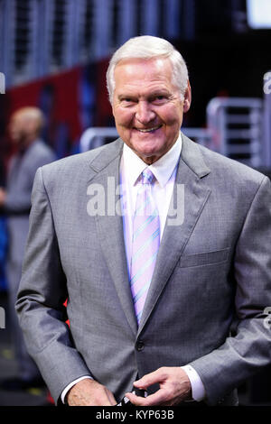 Los Angeles, CA, USA. 15th Jan, 2018. LA Clippers consultant before the Houston Rockets vs Los Angeles Clippers - Stock Photo