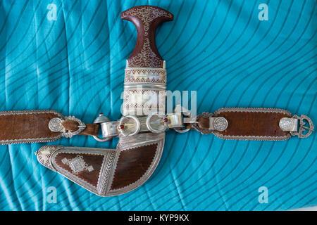Omani dagger Kanjar Khanjar Knife - Stock Photo