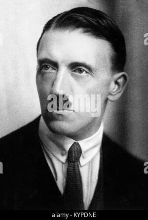Adolf Hitler (1889-1945) as a young man. Photograph c.1924. - Stock Photo
