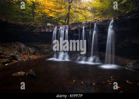 Oneida Falls in Ricketts Glen State Park - Stock Photo