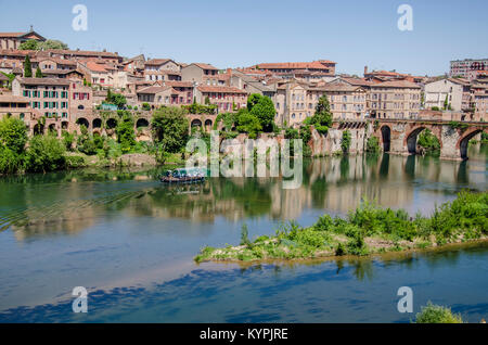The city of Albi declared World Heritage by Unesco is located on the banks of the Tarn River. In the same one is - Stock Photo