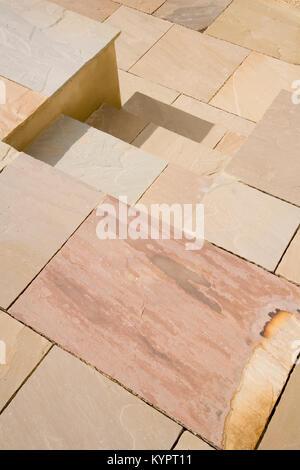Brand new stone slab pavement pattern - Stock Photo