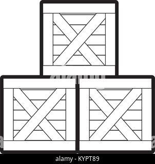 Isolated box design - Stock Photo
