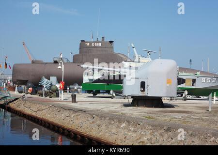 Submarine U10, Deutsches Marinemuseum in Wilhelmshaven, Wilhelmshaven, Lower-Sayony, Germany, Europe - Stock Photo