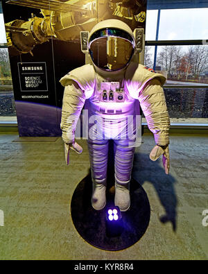 Tim Peakes Soyuz Russian mockup spacesuit Shildon Railway Museum - Stock Photo