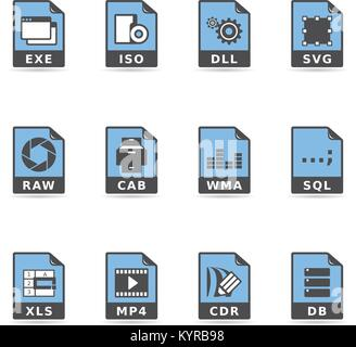 File type icon series in duo tone color. Vector illustration. - Stock Photo