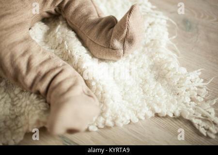Baby's feet. Newborn concept - Stock Photo