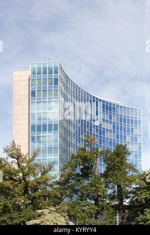 Geneva, Switzerland - October 1, 2017: World intellectual property organization building and headquarters in Geneva, - Stock Photo