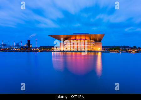Copenhagen Opera House in Copenhagen, Denmark. It is the national opera house of Denmark and was completed in 2004. - Stock Photo
