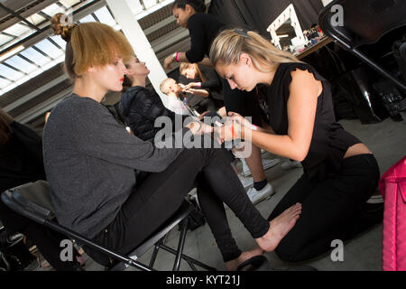 London, UK, 31 May 2014, Instituto Marangoni / backstage, Graduate Fashion Week 2014 at the Old Truman Brewery. - Stock Photo