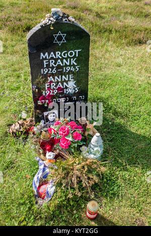 Anne Frank, Memorial ,Bergen Belsen, Germany - Stock Photo