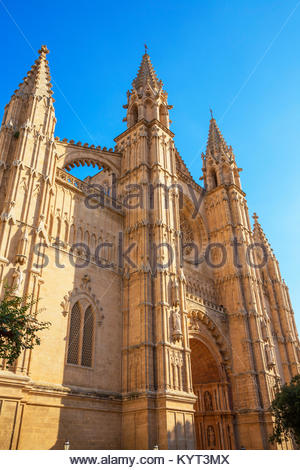 La Seu Cathedral, Palma de Mallorca, Mallorca, Balearic Islands, Spain, Europe - Stock Photo