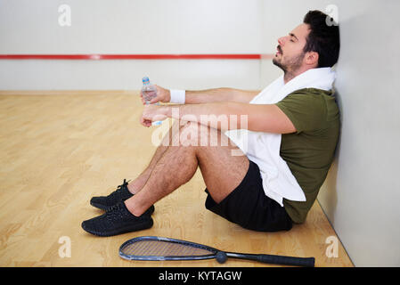 I am absolutely exhausted this training - Stock Photo