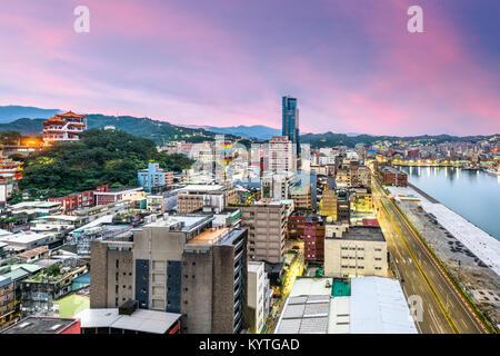 Keelung City, Taiwan skyline. - Stock Photo