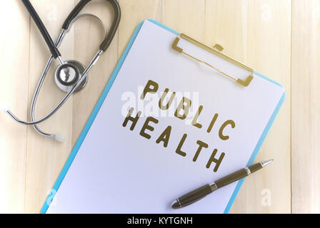 Medical and health care concept - Public Health text. - Stock Photo