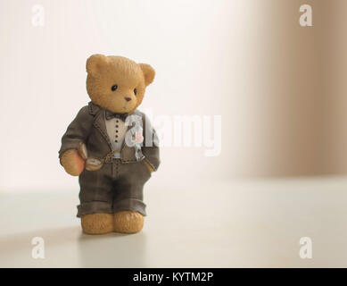 cartoon bear groom figurine - Stock Photo