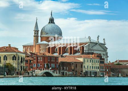 Redentore Church on Giudecca Island along the Grand Canal in Veneto, Venice, Italy, Europe. - Stock Photo