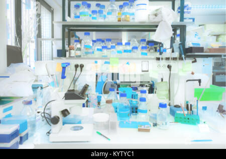 Laboratory interior out of focus, template for a poster, webpage or ...