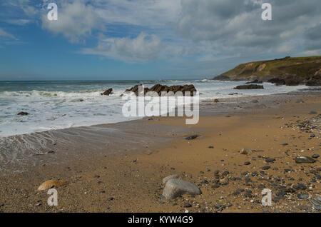 Dollar Cove at Gunwalloe on the Lizard Coast in Cornwall - Stock Photo