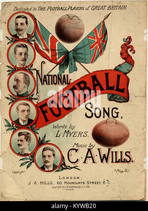 National Football Song-Dedicated to the Football Peers of Great Britain - Stock Photo