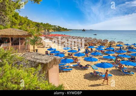 Gialos Beach near Agrostoli, Kefalonia Island, Greece - Stock Photo