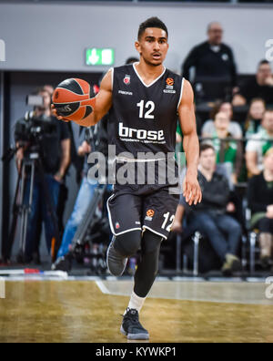 Bamberg, Germany. 16th Jan, 2018. Germany, Bamberg, Brose Arena, 16.01.2018, Basketball - Euroleague - Round 18 - Stock Photo