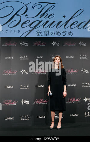Director Sofia Coppola attends the Japan premiere for the film The Beguiled on January 17, 2018, Tokyo, Japan. Coppola - Stock Photo