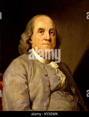 Benjamin Franklin (1706-90) American statesman, printer and scientist. Benjamin Franklin, one of the Founding Fathers - Stock Photo