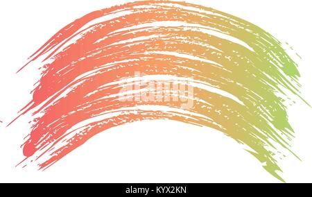 bush stroke hand colorful artistic wave abstract - Stock Photo