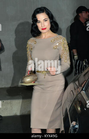 Dita Von Teese At Maxfield Store In For Her Product Colaboration Event with the store.  Featuring: Dita Von Teese - Stock Photo