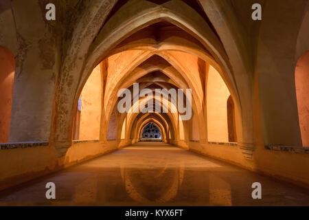 Banos de Dona Maria de Padilla, the Bath of Dona Maria de Padilla, Moorish King's Palace of Real Alcazar - Stock Photo