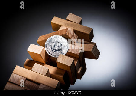 Bitcoin investment risk concept image - Stock Photo