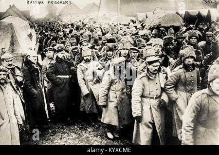 Russian prisoners held during World War One - Stock Photo