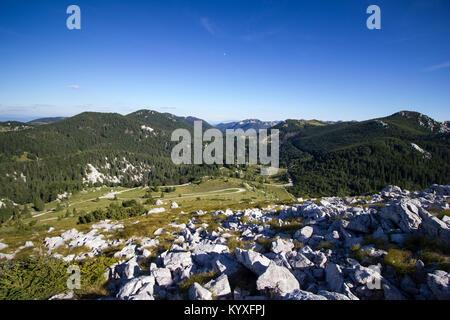 Velebit mountain range view south from Zavizan - Northern Velebit National Park, Croatia -  Aug 2016 - Stock Photo