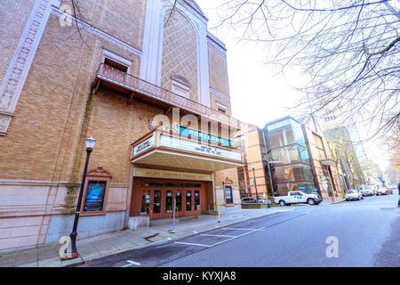 Portland, Oregon, United States - Dec 22, 2017 : Entrance of Arlene Schnitzer Concert Hall