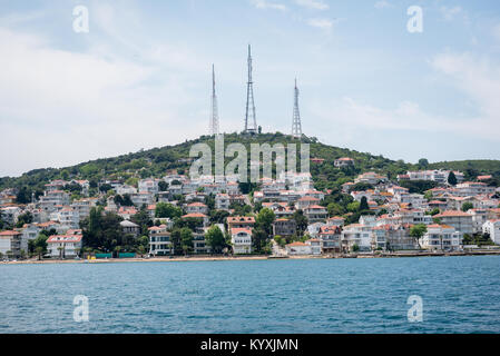 View of kinaliada island.The island is one of four islands named Princes Islands in the Sea of Marmara, near Istanbul, - Stock Photo
