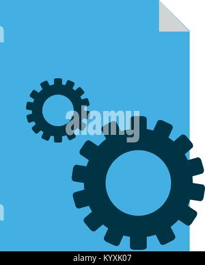 Site and gear design - Stock Photo
