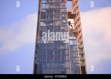 The Shard upper levels and viewing floors for View From The Shard viewing windows. London. Space for copy - Stock Photo